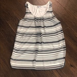 Black/white striped sleeveless Express shirt